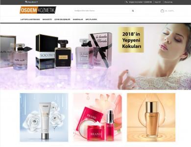 Osdem Kozmetik, Parfumeri Mağaza Site Teması