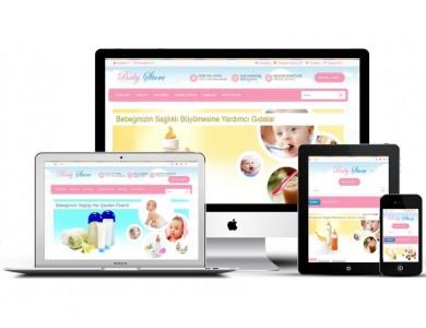 Bebek Giyim Oyuncak  Site Teması