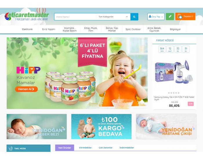 Opencart Bebek- Oyuncak Full E-ticaret Hazır Site Paketi