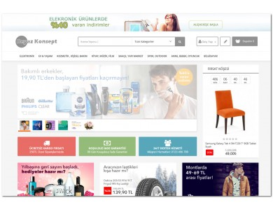 Opencart Beyaz Konsept Full E-ticaret Hazır Site Paketi
