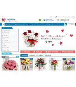 Çiçek Satış Mağaza  Site Teması