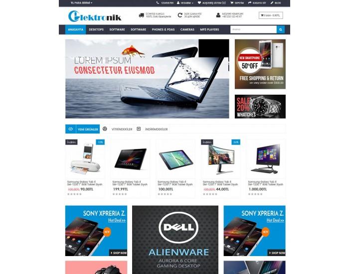 Elektronik ve Bilgisayar Site Teması