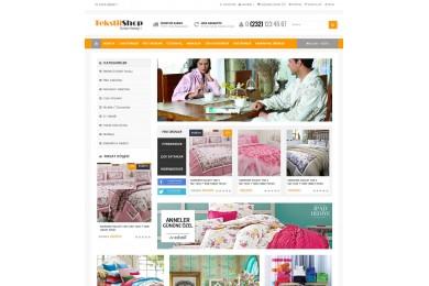 Ev Tekstili Marketing  Site Teması
