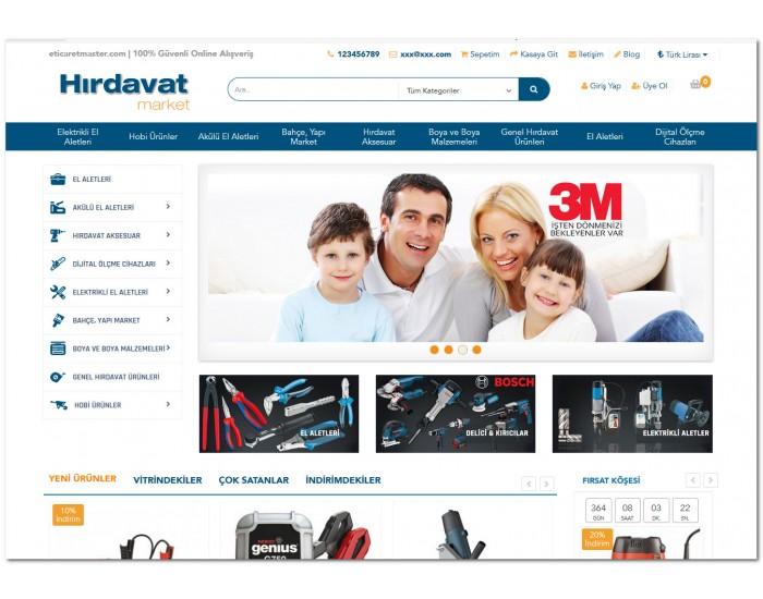 Opencart Hırdavat ve Oto yedek parça Ürünleri Full E-ticaret Hazır Site Paketi