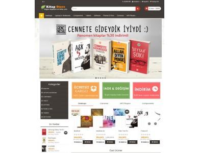 Kitap Mağazası E -ticaret  Site Teması