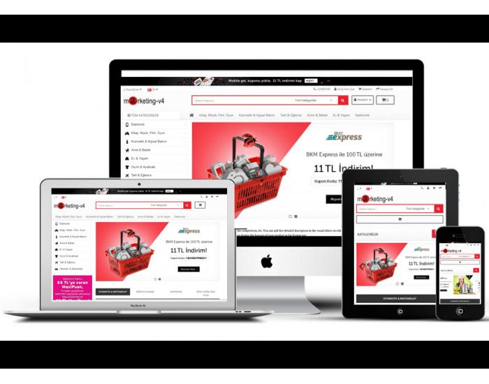 Marketing v4 Full E-ticaret Hazır Site Paketi