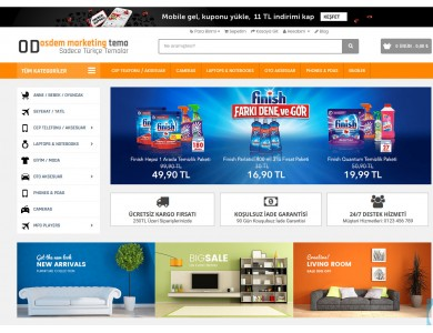 Marketing v5 Full E-ticaret Hazır Site Paketi