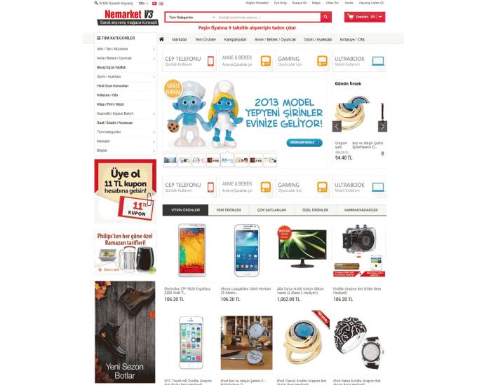 Opencart 1564 Versiyon  Marketing-V3 Tasarımı full paket