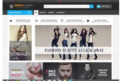 Moda-Giyim Mağaza  Site Teması