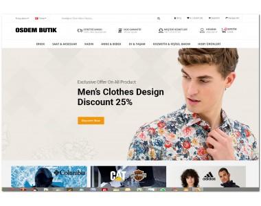 OsdemTema  Butik Moda Giyim Tesettür 3x Site Teması