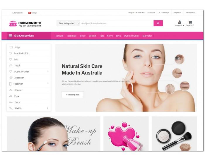 Osdem Opencart Kozmetik ve Parfümeri 3x Site Teması