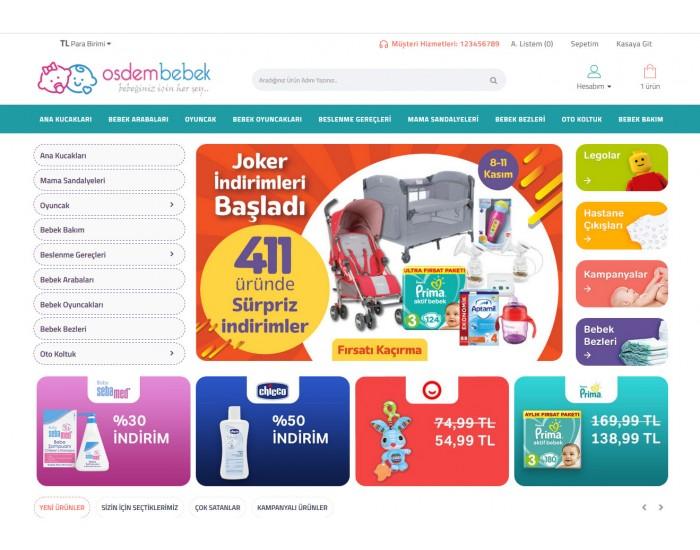Osdem Bebek ürünleri Satış Opencart 3x Site Teması