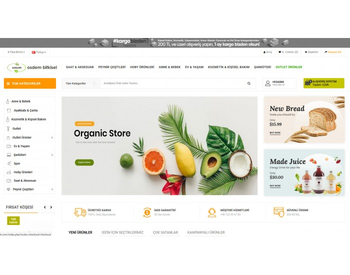OsdemTema Bitkisel Ürün satış Opencart 3x Site Teması