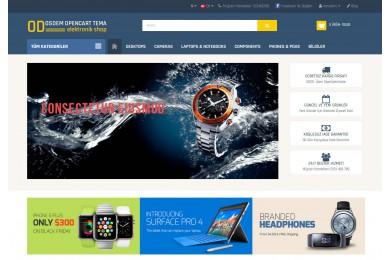 OsdemTema Elektronik, Cep Telefonu ve Aksesuar Mağaza  Site TemasıTema
