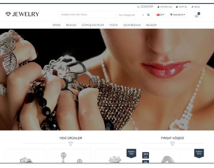 Gümüş, Takı, Bijuteri Satış Opencart 2.1x Site Teması