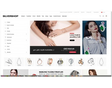 Opencart OsdemTema Gümüş takı ve bijuteri 3.x mağaza site teması