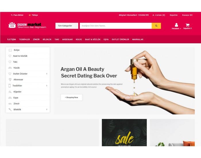 Osdem Opencart genel market 3x Site Teması