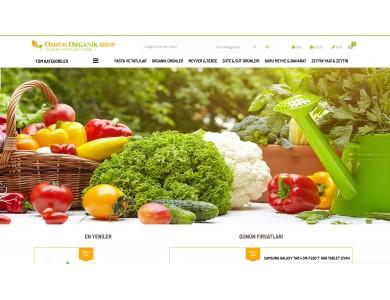 Organik Ürünler Satış Opencart 2.1x Site Teması