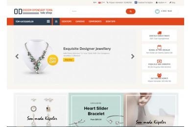OsdemTema Bijuteri, Takı ve Aksesuar Mağaza  Site Teması