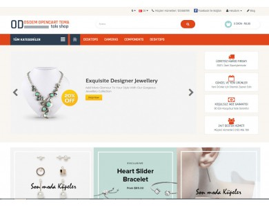 Osdem Bijuteri, Takı ve Aksesuar Mağaza  Site Teması