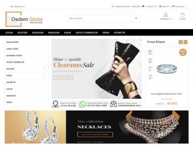 Osdem Gümüş ve Takı Mağaza Site Teması