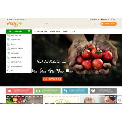 OsdemTema  Yöresel &Petshop Mağaza Site Teması