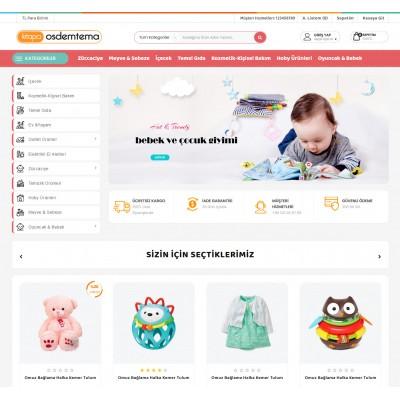 OsdemTema  Oyuncak ve bebek Ürün satış Opencart 3x  Teması