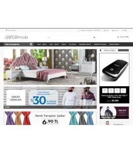 Opencart  Privateshop  Moda Beyaz MağazaTeması -1