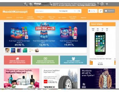 Opencart Renkli  Konsept Full E-ticaret Hazır Site Paketi