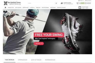 Spor Giyim Ayakkabı Site Teması