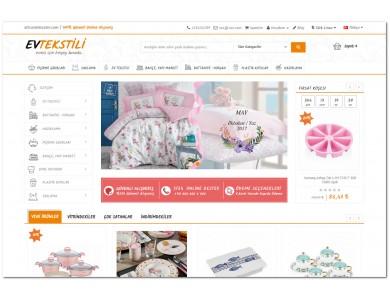 Opencart  Ev Tekstil ve Züccaciye Ürünleri  Full E-ticaret Hazır Site Paketi