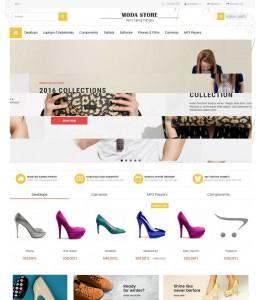 Opencart 2.x  Ayyakabı E -ticaret  Site Teması
