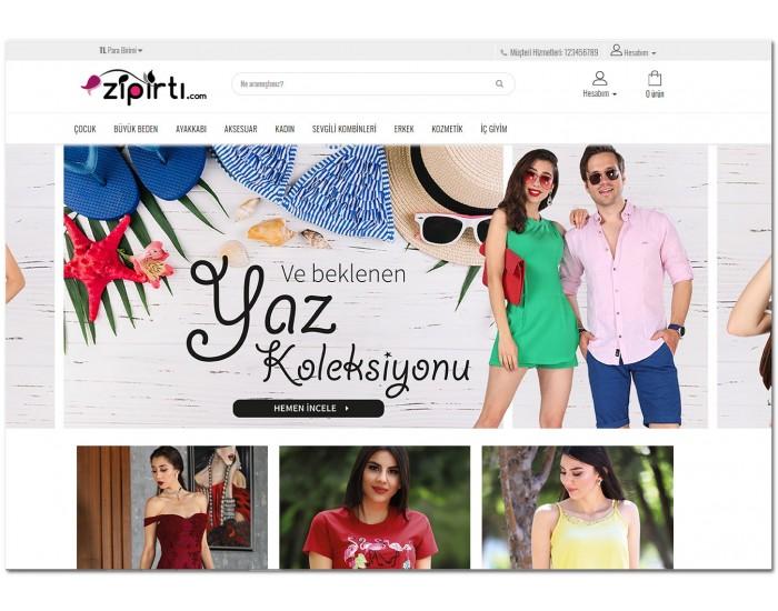 Osdem zipirti.com Moda - Giyim - Mağaza Site Teması