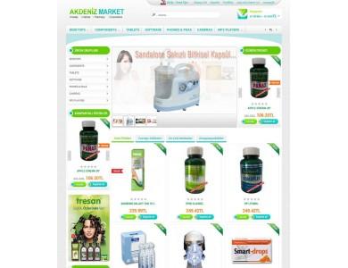 Opencart  Mediak-Bitkisel Ürün mağaza Tasarımı full paket