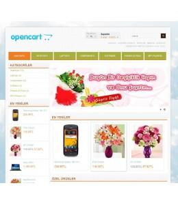 Opencart 1.5.2-1.5.3-1.5.4-1.5.5  flower  Template