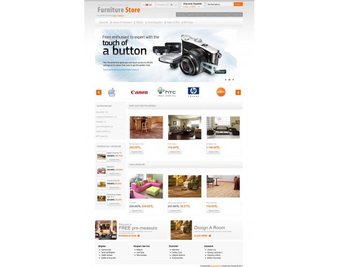 Opencart Furniture 1.5.x Tema
