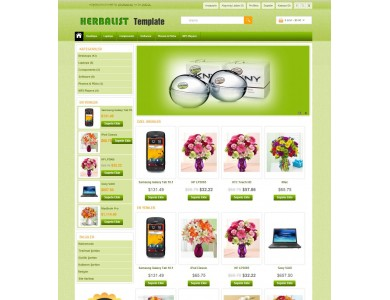 Opencart 1.5.2-1.5.3-1.5.4-1.5.5 - 156 Herbalist & Flower Teması