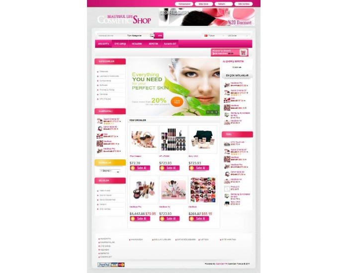 Opencart Cosmetic-Shop-Menekşe