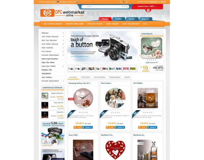 Opencart 155x 156x Versiyon Özel Marketing v2 Tasarım ful paket site