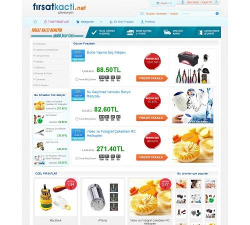 Opencart  Fırsat Sitesi Teması