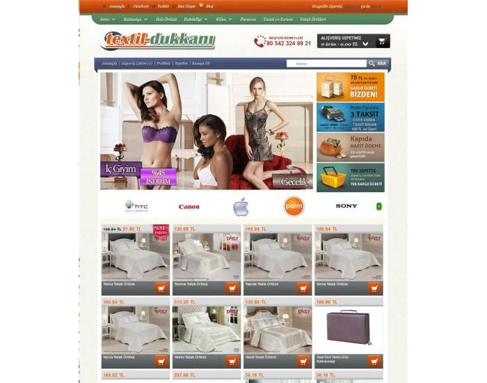 Opencart  tekstilshop  mağaza Tasarımı full paket