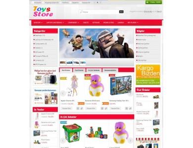 Opencart 1551 Versiyon Oyuncak ve Bebek Urunleri Tasarımı full paket